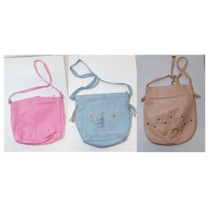 Handbags - 3 handbags Pink  blue peach crossbody bag shoulder